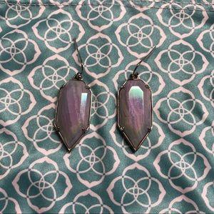 Kendra Scott Silver Blue Purple Earrings